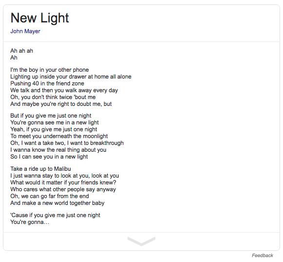 Lirik John Mayer