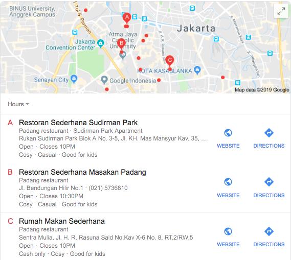 Restoran Sederhana Sudirman Park
