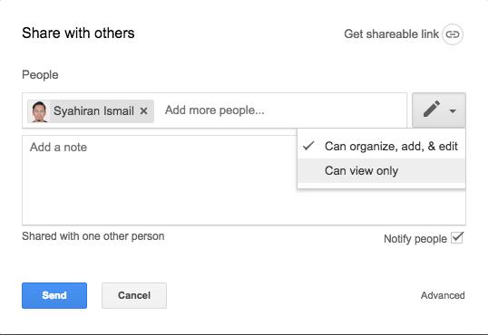 Set access Google Drive